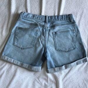 GAP Shorts - GAP Sexy Boyfriend distressed light jean shorts.